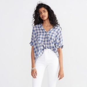 Madewell Courier Button Back Blouse